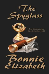 Book Cover The Spyglass spyglass and compass on black background